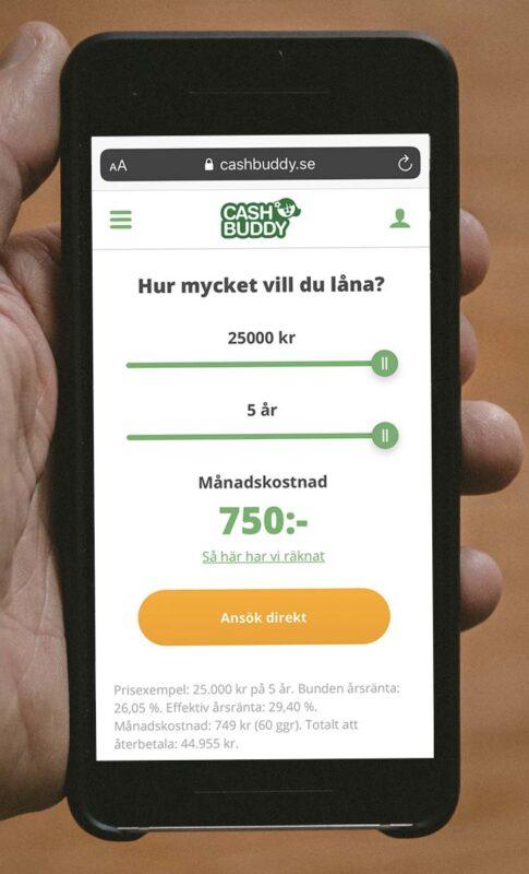 Ansök hos Cashbuddy.se
