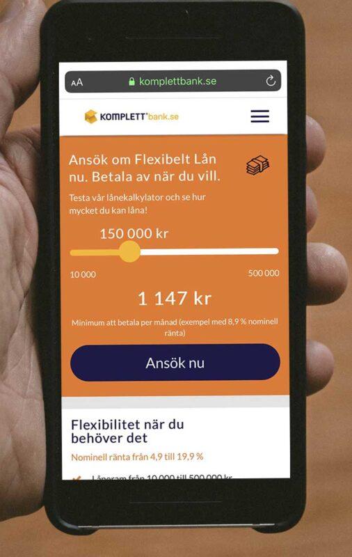 Ansök om privatlån hos Komplett Bank
