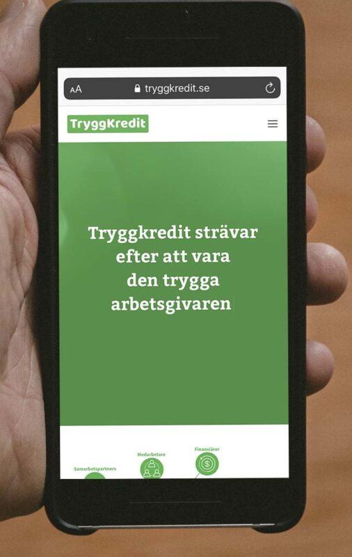 Ansök om tryggkredit i mobilen