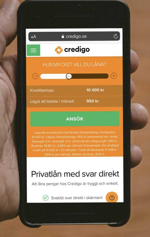 Credigo lån utan uc?
