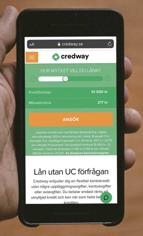 Credway är det lån eller kredit?