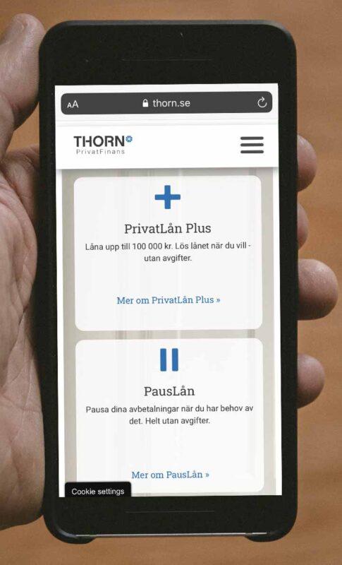 Ränta kontakt och omdöme Thorn